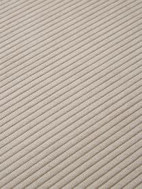 Divano componibile 4 posti in velluto a coste con poggiapiedi beige Lennon, Rivestimento: velluto a coste (92% poli, Struttura: legno di pino massiccio, , Piedini: plastica I piedini si tro, Velluto a coste beige, Larg. 327 x Prof. 207 cm