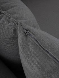 Sofa Tribeca (3-Sitzer) in Anthrazit, Bezug: 100% Polyester Der hochwe, Gestell: Massives Buchenholz, Füße: Massives Buchenholz, lack, Webstoff Anthrazit, B 228 x T 104 cm