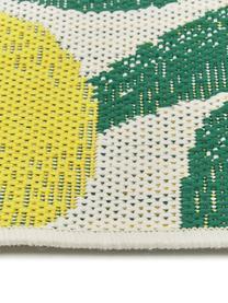 In- & Outdoor-Läufer Limonia mit Zitronen Print, 86% Polypropylen, 14% Polyester, Cremeweiß, Gelb, Grün, 80 x 250 cm