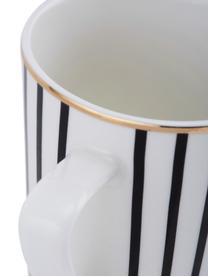 Tasse XL design Pluto Loft, 4pièces, Noir, blanc, couleur dorée
