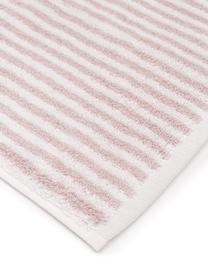 Gestreiftes Handtuch Viola, 100% Baumwolle, mittelschwere Qualität 550 g/m², Rosa, Cremeweiss, Gästehandtuch
