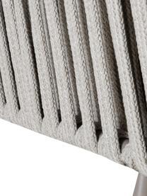 Divano da giardino con intreccio Sunderland (2 posti), Gambe: acciaio zincato verniciat, Rivestimento: poliacrilico, Taupe, taupe chiaro, Larg. 162 x Prof. 73 cm
