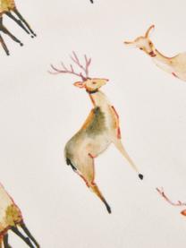 Runner in velluto con motivo cervi Herde, 100% velluto di poliestere, Beige, tonalità marroni, Larg. 40 x Lung. 145 cm