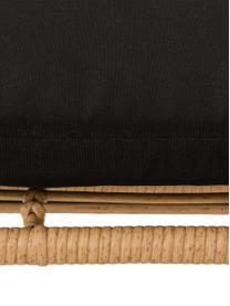 Zitbank Sola, Zitvlak: polyethyleen-vlechtwerk, Frame: gepoedercoat metaal, Lichtbruin, 137 x 73 cm