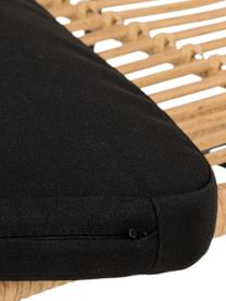 Polyrattan-Sitzbank Costa in Hellbraun, Sitzfläche: Polyethylen-Geflecht, Gestell: Metall, pulverbeschichtet, Hellbraun, 137 x 105 cm
