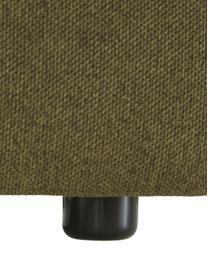Modulaire hoekbank Lennon in groen, Bekleding: polyester De hoogwaardige, Frame: massief grenenhout, multi, Poten: kunststof De poten bevind, Geweven stof groen, B 238 x D 180 cm