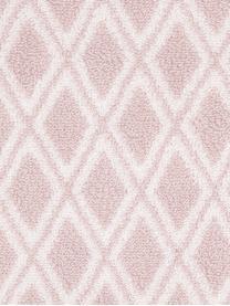 Wende-Handtuch Ava mit grafischem Muster, 100% Baumwolle, mittelschwere Qualität 550 g/m², Rosa, Cremeweiß, Gästehandtuch