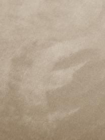 Tabouret de bar en velours blanc crème Amy, Blanc