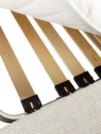 Schlafsofa Maria in Cremefarben im Landhaus-Stil, ausklappbar, Bezug: 40% Baumwolle, 20% Leinen, Korpus: Mitteldichte Faserplatte,, Webstoff Creme, B 180 x T 97cm