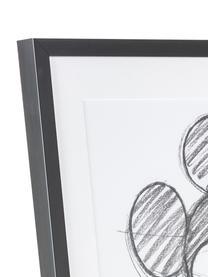 Gerahmter Digitaldruck Mickey, Bild: Digitaldruck, Rahmen: Kunststoff, Front: Glas, Weiß, Schwarz, 50 x 70 cm