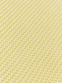 Strickdecke Adalyn aus Bio-Baumwolle in Hellgelb, 100% Bio-Baumwolle, GOTS-zertifiziert, Hellgelb, 150 x 200 cm