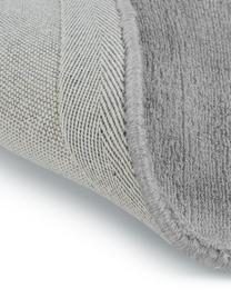 Tappeto rotondo in viscosa color grigio tessuto a mano Jane, Retro: 100% cotone, Grigio, Ø 250 cm (taglia XL)