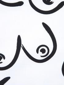 Housse de coussin Boobs, Blanc, noir