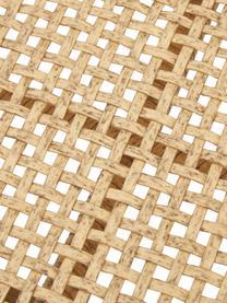 Gartenbank Palina mit Kunststoff-Geflecht in Holzoptik, Gestell: Metall, pulverbeschichtet, Sitzfläche: Kunststoff-Geflecht, Braun, 121 x 75 cm