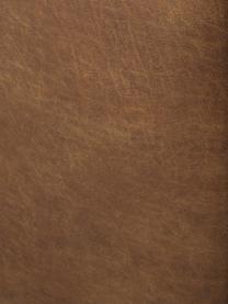 Moduł środkowy ze skóry z recyklingu Lennon, Tapicerka: skóra pochodząca z recykl, Stelaż: lite drewno sosnowe, skle, Nogi: tworzywo sztuczne Nogi zn, Brązowa skóra, S 89 x G 119 cm