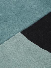 Tappeto in lana taftato a mano Zenia, 100% lana, Crema, blu, nero, Larg. 170 x Lung. 240 cm (taglia M)
