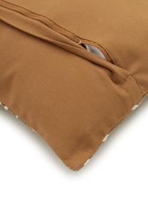 Kussenhoes Nomad in camelkleurig/crèmewit, 100% katoen, Camelkleurig, crèmewit, 45 x 45 cm