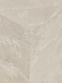 Schwebender Couchtisch Lesley in Travertinoptik, Mitteldichte Holzfaserplatte (MDF), mit Melaminfolie überzogen, Beige, Travertinoptik, 90 x 35 cm