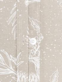 Flanell-Bettwäsche Animal Toile in Beige, Webart: Flanell Flanell ist ein k, Beige, 135 x 200 cm + 1 Kissen 80 x 80 cm