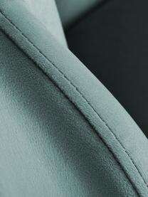 Samt-Cocktailsessel Helle in Türkis, Bezug: Samt (Polyester) Der hoch, Füße: Metall, pulverbeschichtet, Samt Türkis, B 65 x T 65 cm