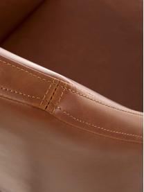 Kunstleren bureaustoel Nora, in hoogte verstelbaar, Bekleding: kunstleer (polyurethaan), Poten: gepoedercoat metaal, Wieltjes: kunststof, Cognackleurig, B 58 x D 58 cm