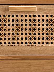 Holz-Kommode Romeo mit Wiener Geflecht, Front: Rohrgeflecht, Korpus: Mitteldichte Holzfaserpla, Eschenholz, 75 x 86 cm