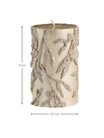 Ręcznie wykonana świeca pieńkowa Mistle, Parafina, Odcienie złotego, Ø 7 x W 13 cm