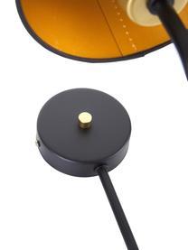 Applique murale design noire Victoria, Noir, couleur dorée