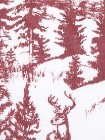 Housse de coussin 40x40 Noël Nordic, Blanc, rouge