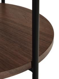 Tavolino rotondo con vano Renee, Ripiani: pannello di fibra a media, Struttura: metallo verniciato a polv, Marrone, Ø 44 x Alt. 49 cm