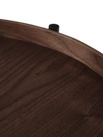 Beistelltisch Renee mit Ablagefach, Gestell: Metall, pulverbeschichtet, Braun, Ø 44 x H 49 cm