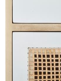 Comodino in legno di mango Georg, Legno di mango, bianco, Larg. 40 x Alt. 60 cm