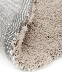 Flauschiger runder Hochflor-Teppich Leighton in Beige, Flor: 100% Polyester (Mikrofase, Beige-Braun, Ø 200 cm (Größe L)