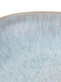 Handbemalte Servierschale Areia mit reaktiver Glasur, Ø 22 cm, Steingut, Hellblau, Gebrochenes Weiss, Hellbeige, Ø 22 x H 5 cm