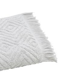 Handtuch Jacqui in verschiedenen Größen, mit Hoch-Tief-Muster, Hellgrau, Gästehandtuch