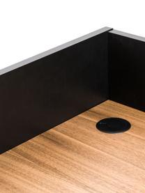 Scrittoio con ripiano Camille, Gambe: metallo verniciato, Legno di quercia, nero, Larg. 90 x Prof. 60 cm