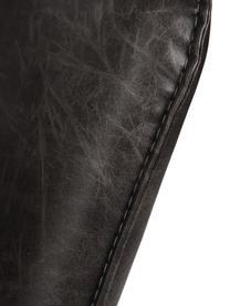 Kunstleder-Loungesessel Bon im Industrial Design, Bezug: Kunstleder (64% Polyureth, Füße: Metall, lackiert, Bezug: Schwarz, strukturiert Füße: Schwarz, B 80 x T 76 cm