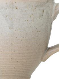 Kaffetassen Taupe mit handgefertigter Sprenkelglasur, 2 Stück, Steingut, Grau, Beige, Ø 8 x H 8 cm