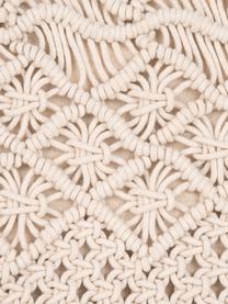 Federa arredo in macramè Nalina, 100% cotone, Ecru, Larg. 45 x Lung. 45 cm