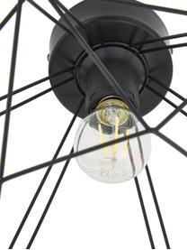 Deckenleuchte Tarbes im Industrial-Style, Baldachin: Stahl, Schwarz, Ø 33 x H 28 cm