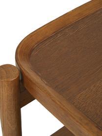 Nachttisch Libby aus Eichenholz, Ablagefläche: Eichenholzfurnier mit mit, Dunkelbraun, 49 x 60 cm