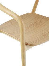 Chaise à accoudoirs bois massif Angelina, Brun