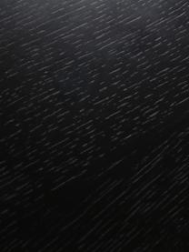 Komoda z drzwiczkami Linea, Korpus: płyta pilśniowa (MDF) z f, Nogi: metal lakierowany, Czarny, drewno dębowe, S 159 x W 74 cm