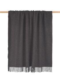 Plaid réversible en cachemire rouille/gris Liliana, Brun-rose, gris