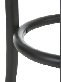 Hocker Franz mit Wiener Geflecht, Sitzfläche: Rattan, Gestell: Buchenholz, massiv, Schwarz, Ø 36 x H 45 cm