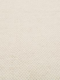 Handgewebter Kelimteppich Delight aus Wolle in Cremeweiß, Vorderseite: 90% Wolle, 10% Baumwolle, Rückseite: Baumwolle, Wollweiß, B 250 x L 350 cm (Größe XL)