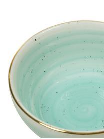 Bol artisanal en porcelaine Bella, 2pièces, Bleu turquoise