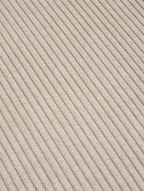 Divano angolare a 3 posti in tessuto a coste beige Melva, Rivestimento: velluto a coste (92% poli, Struttura: legno di pino massiccio, , Piedini: plastica, Velluto a coste beige, Larg. 239 x Prof. 143 cm