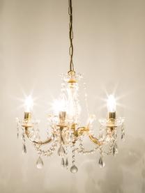 Kronleuchter Marie Therese, Baldachin: Metall, Goldfarben, Transparent, Ø 48 x H 42 cm