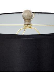 Lampada da tavolo Balls 2 pz, Paralume: tessuto (rivestimento in , Base della lampada: vetro, Nero, argento, Ø 35 x Alt. 75 cm